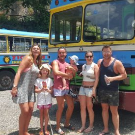 big deal tours old Jamaican buses