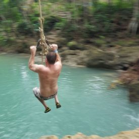 Big Deal Tours Blue Hole swing